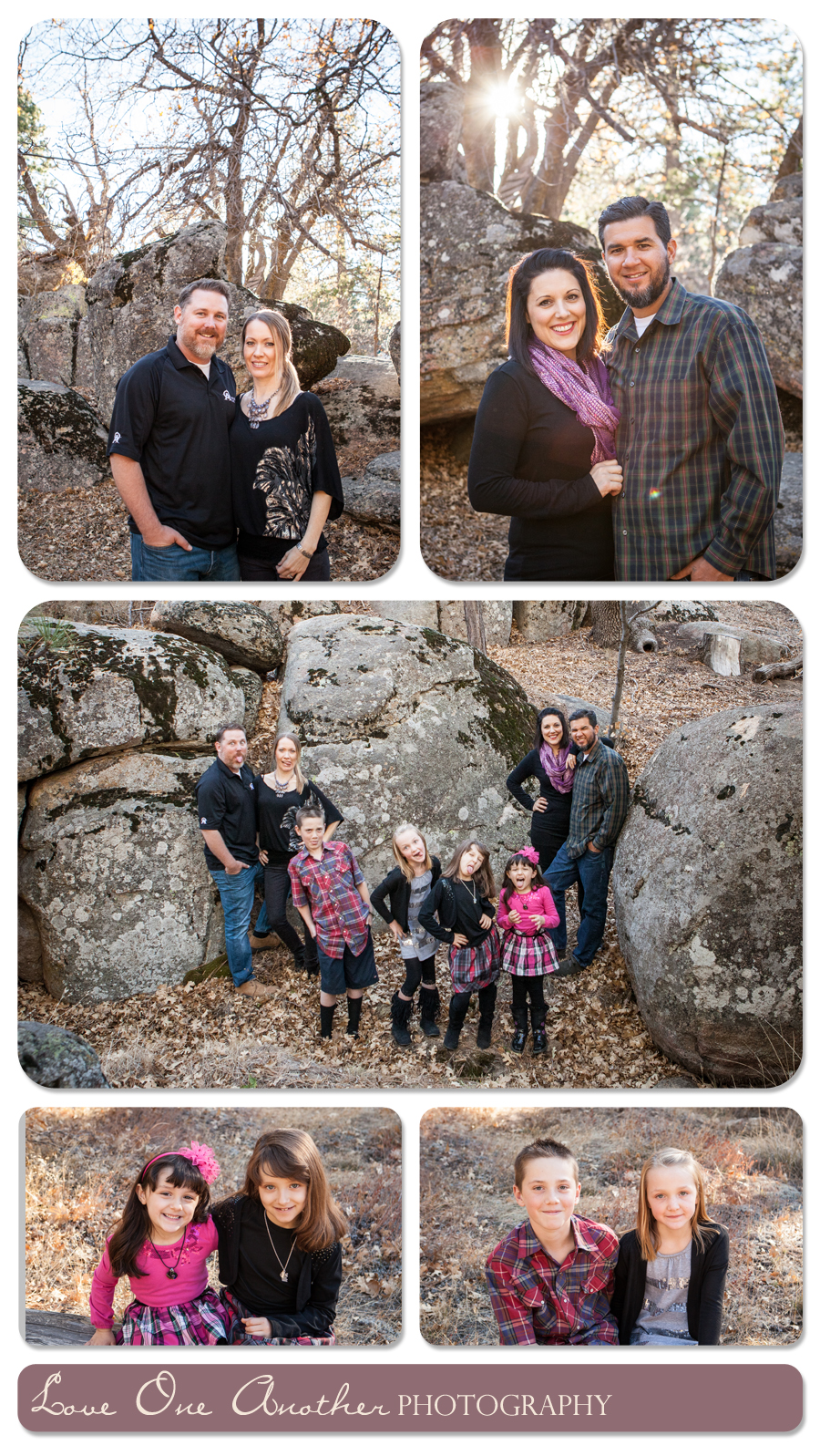 fall family pictures in the mountains