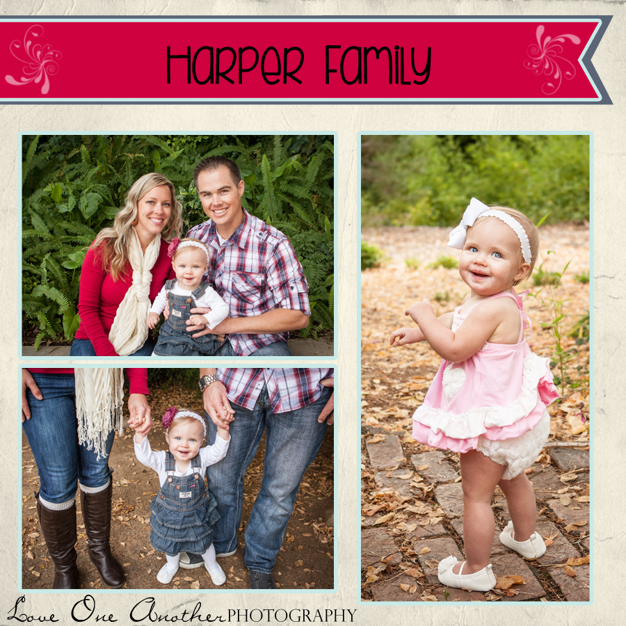 Family of three park session