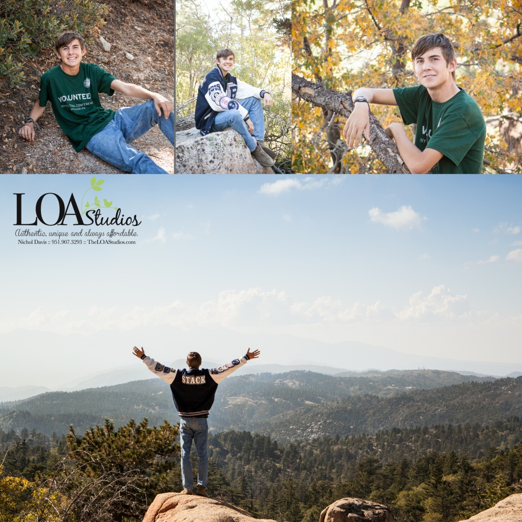 senior pictures in the mountains