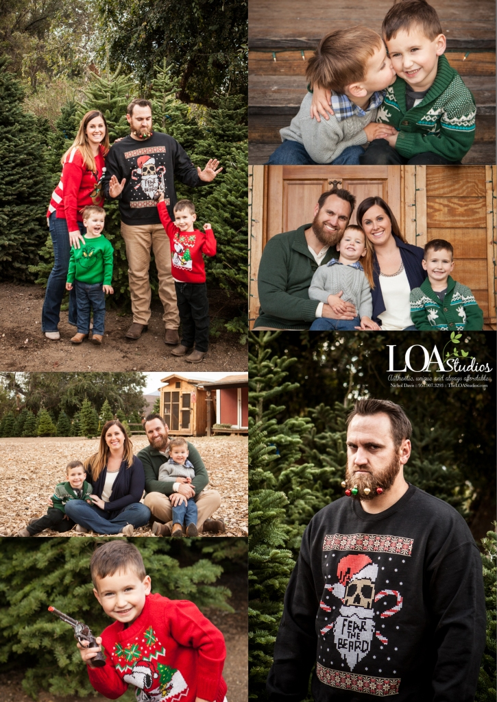 greenspot farms family photographer christmas