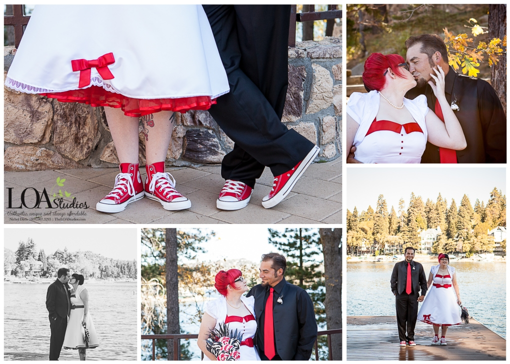 red and black wedding colors