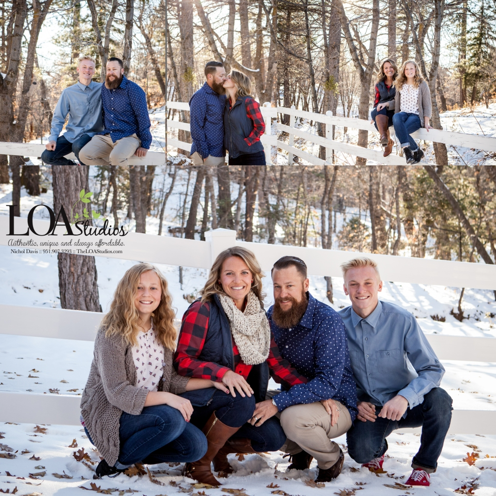 mountain family pictures in the snow