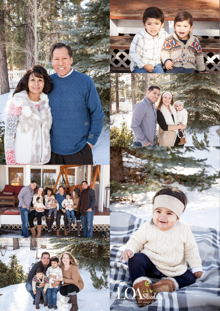 big bear lake winter family pictures