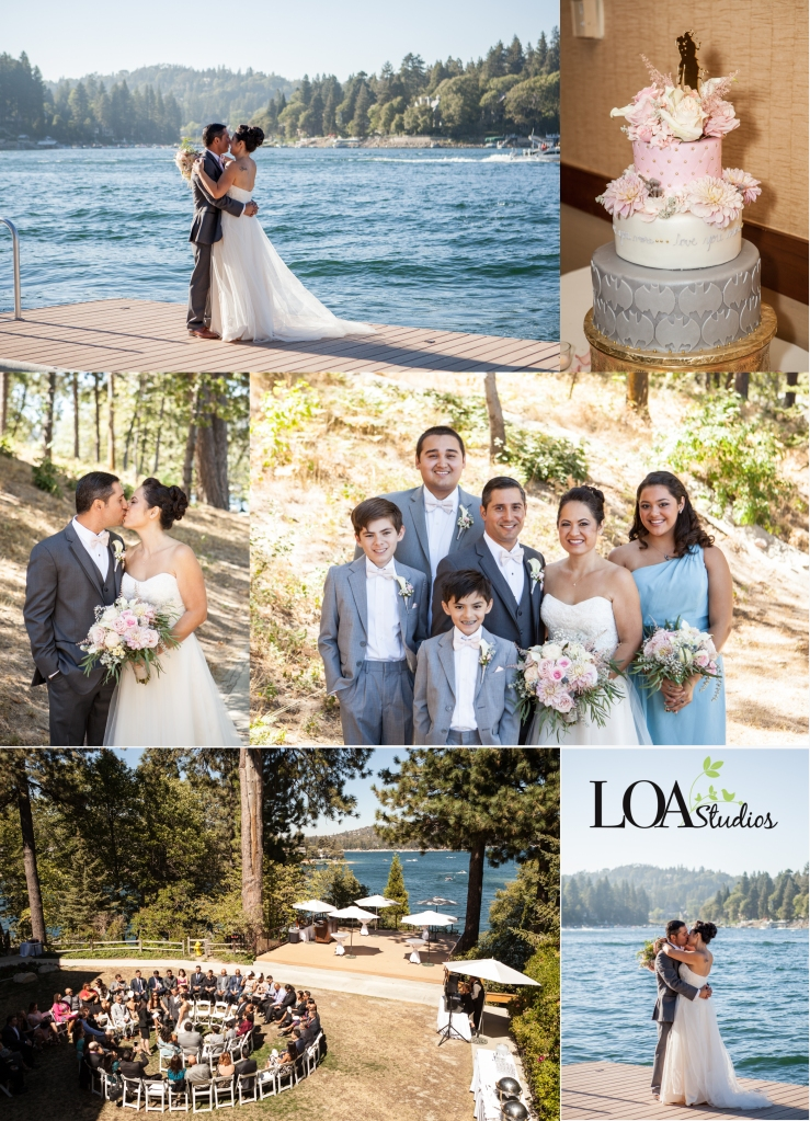sweet wedding on the lake
