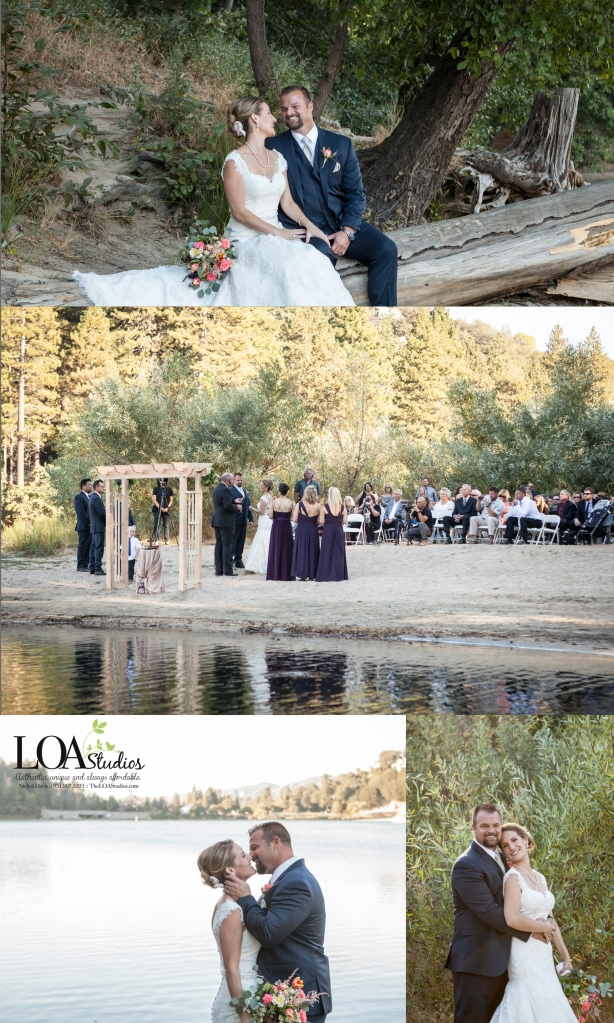 rustic mountain wedding at the lake