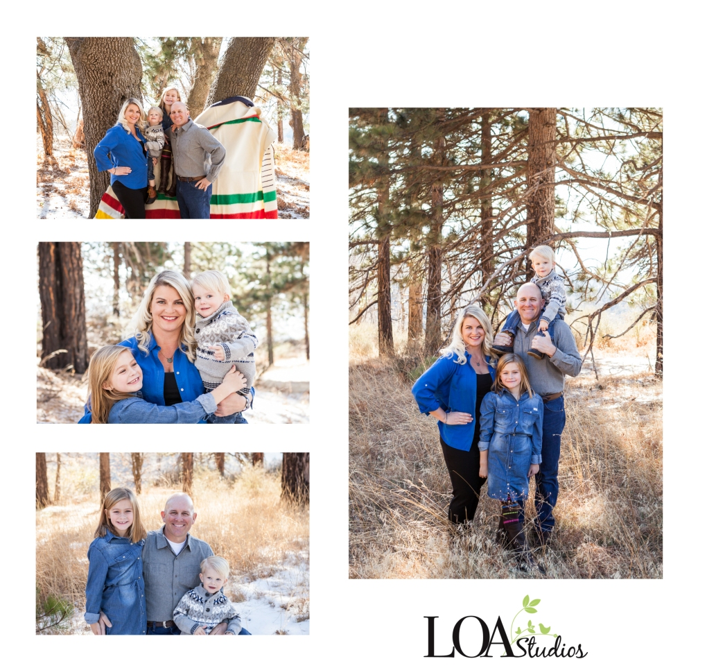 outdoor mountain family pictures
