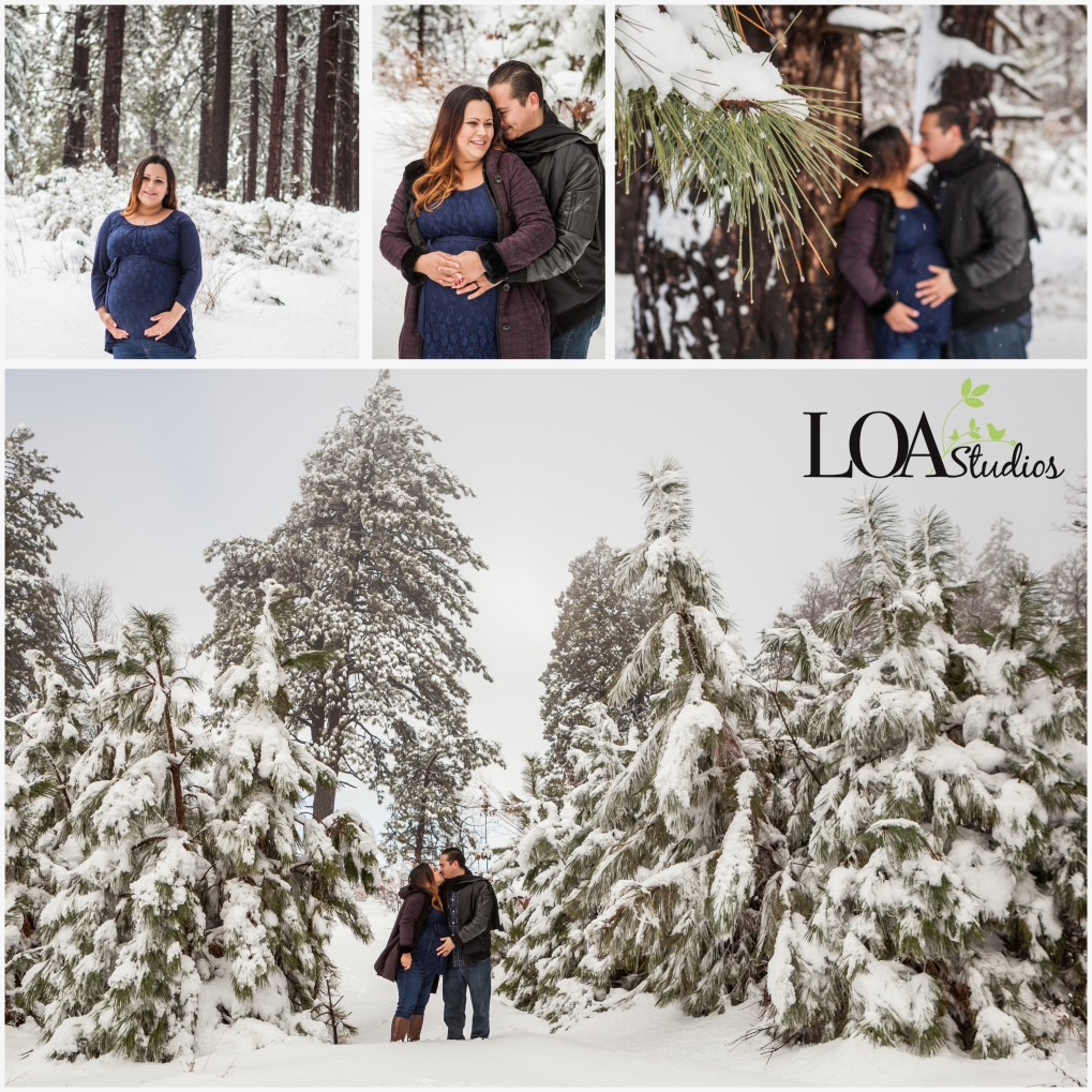 Maternity pictures in the snow