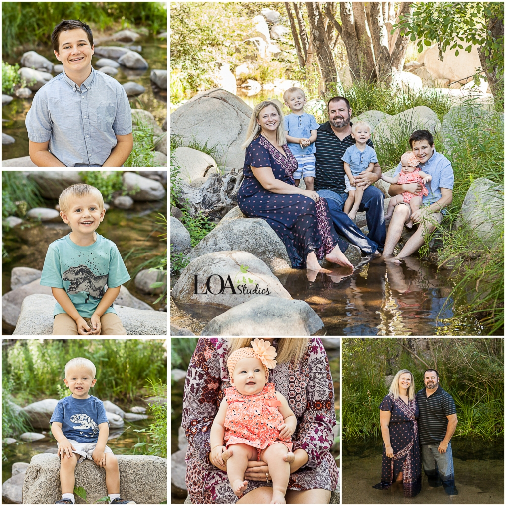 family pictures in lake arrowhead