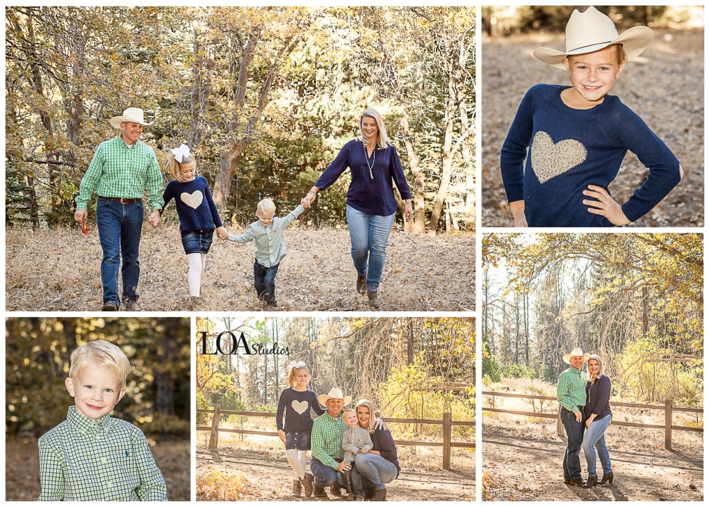 outdoor family pictures in the mountains